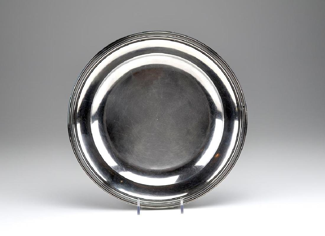 19th C French silver dish
