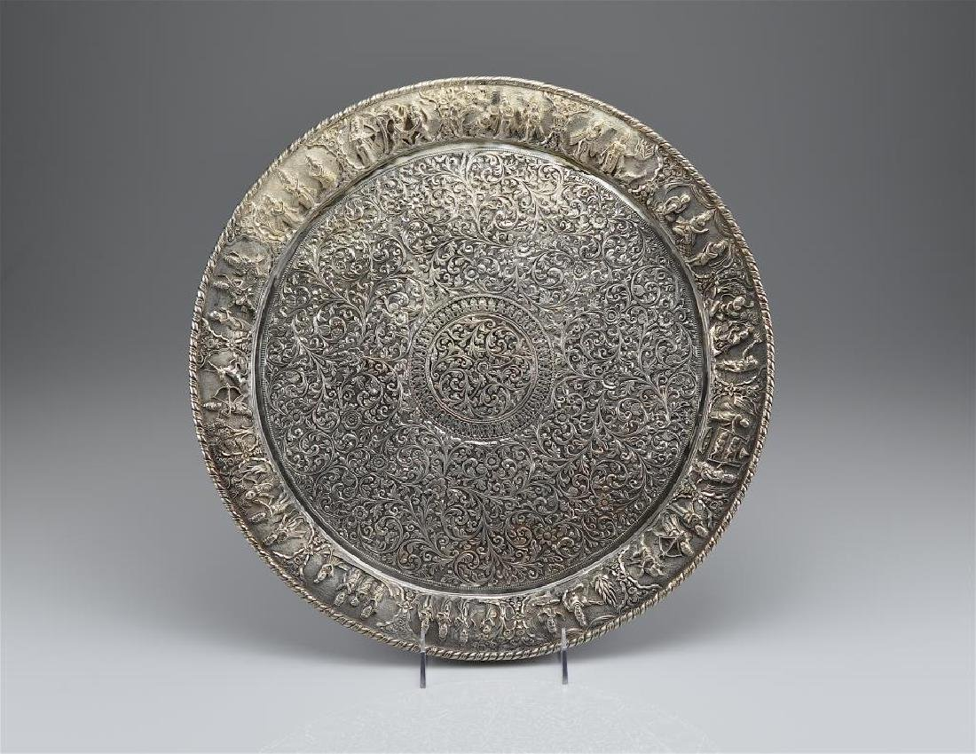 Indian Kutch silver tray