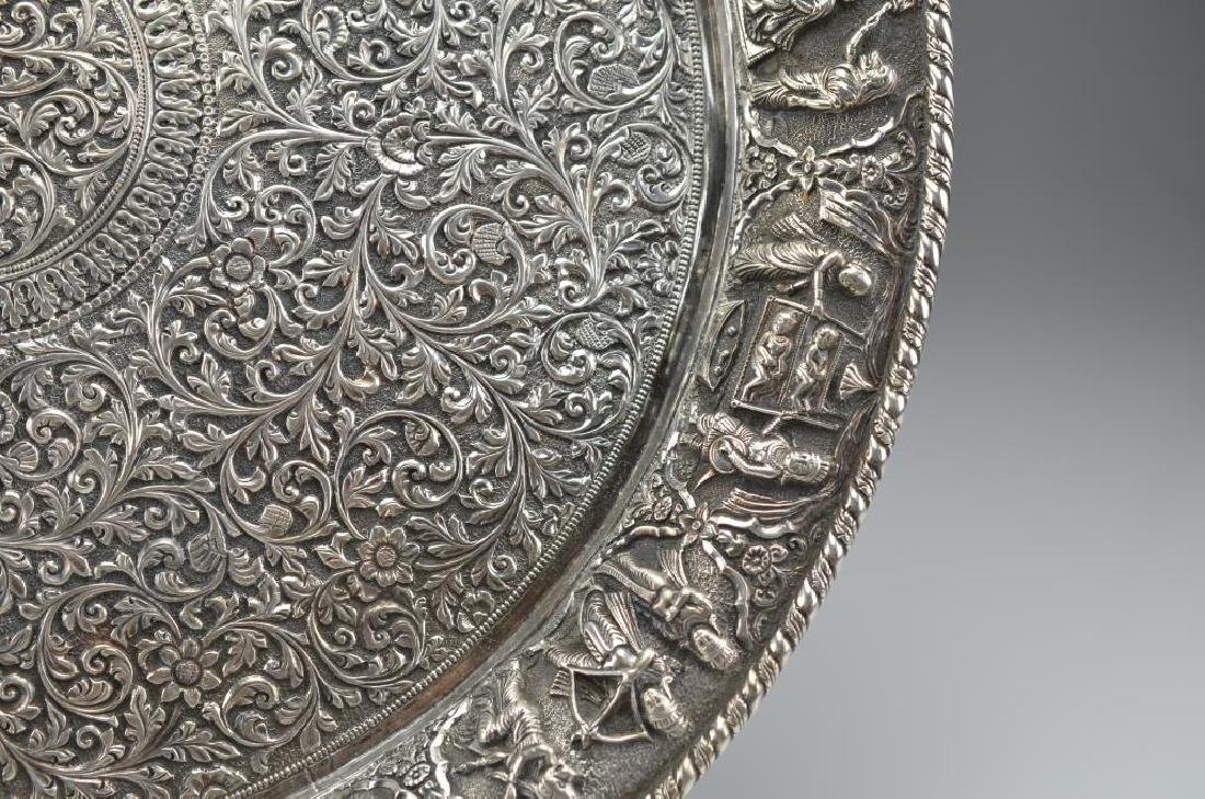 Indian Kutch silver tray - 2
