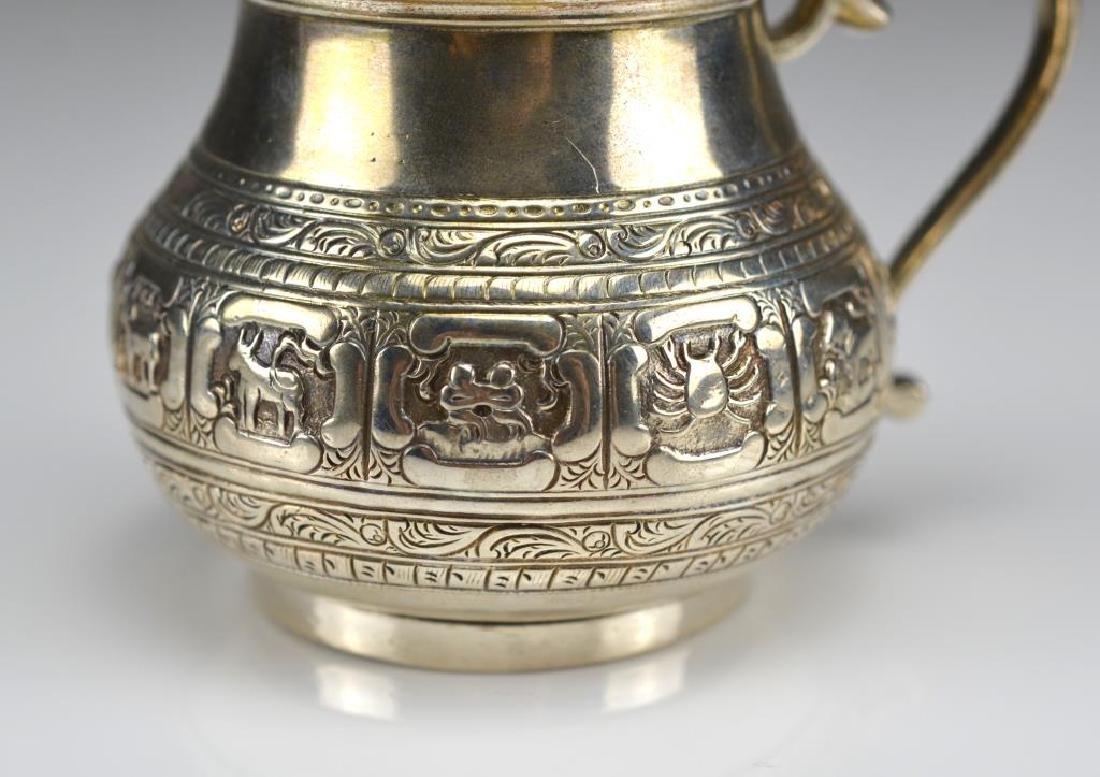 Victorian silver mustard pot - 2