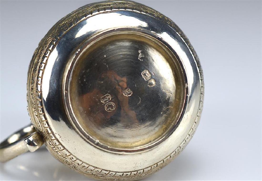 Victorian silver mustard pot - 4