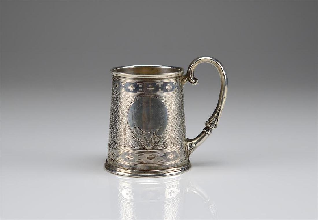Northern European silver christening cup