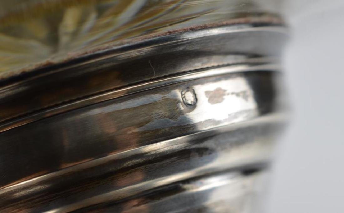 French silver and cut glass centre bowl - 2