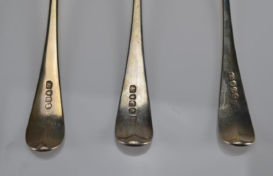 Six Georgian table spoons - 2