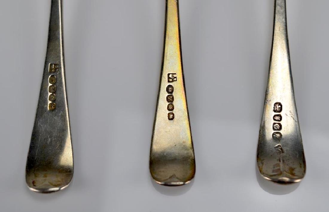 Six Georgian table spoons - 3