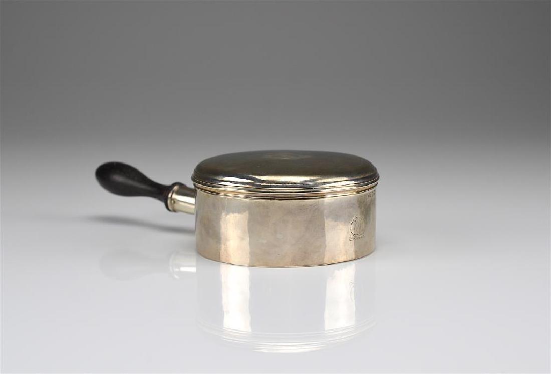 Georgian silver sauce pan & cover