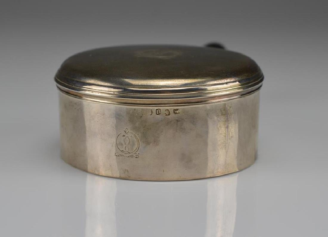 Georgian silver sauce pan & cover - 2