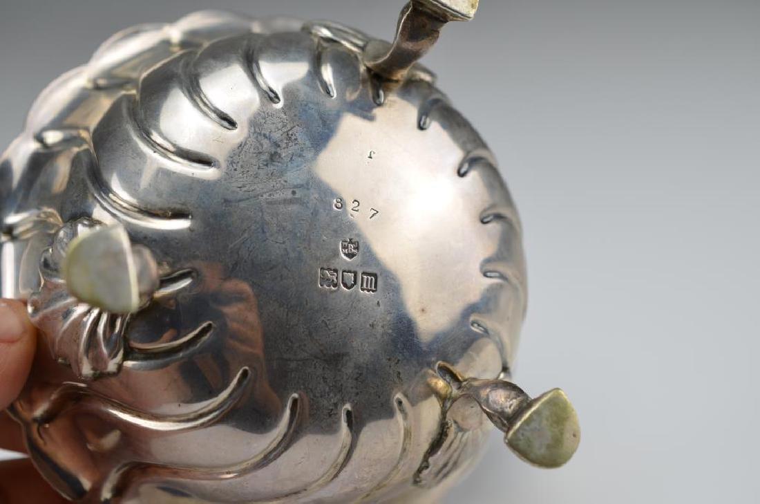 English silver footed bowl - 2