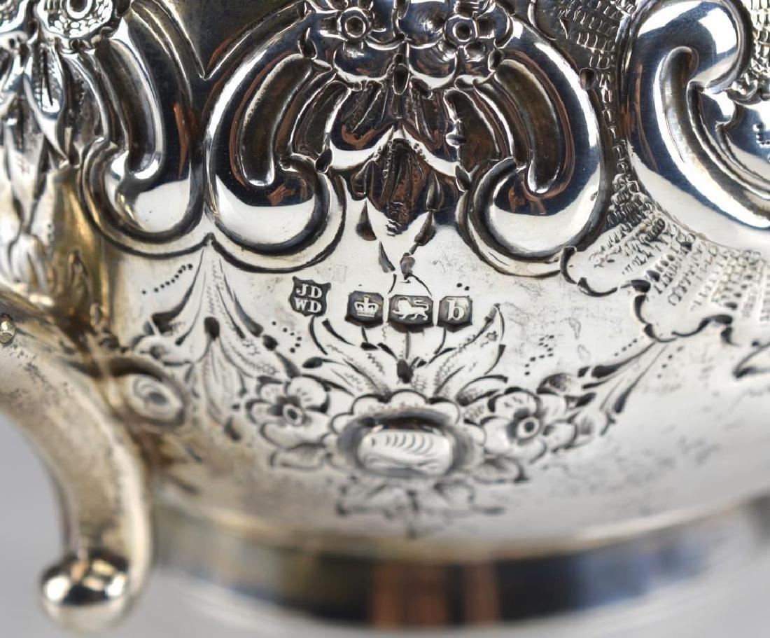 English silver teapot - 3