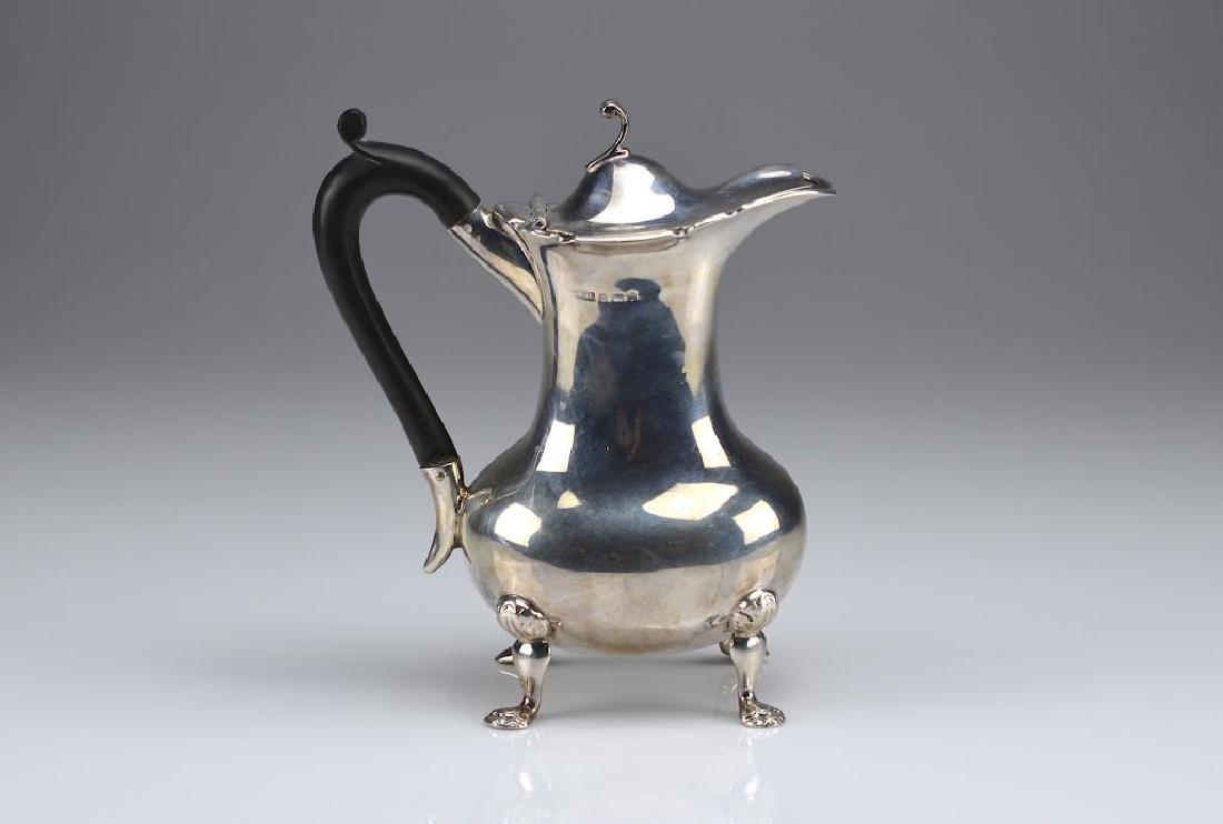 English silver hot water pot