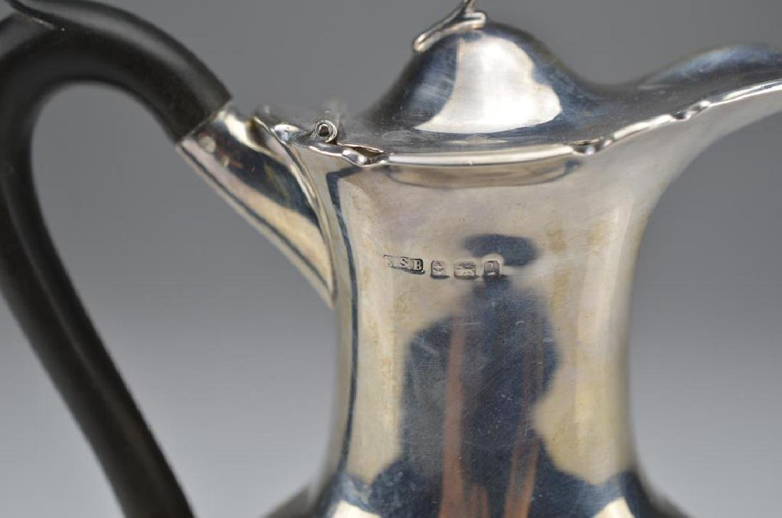 English silver hot water pot - 2