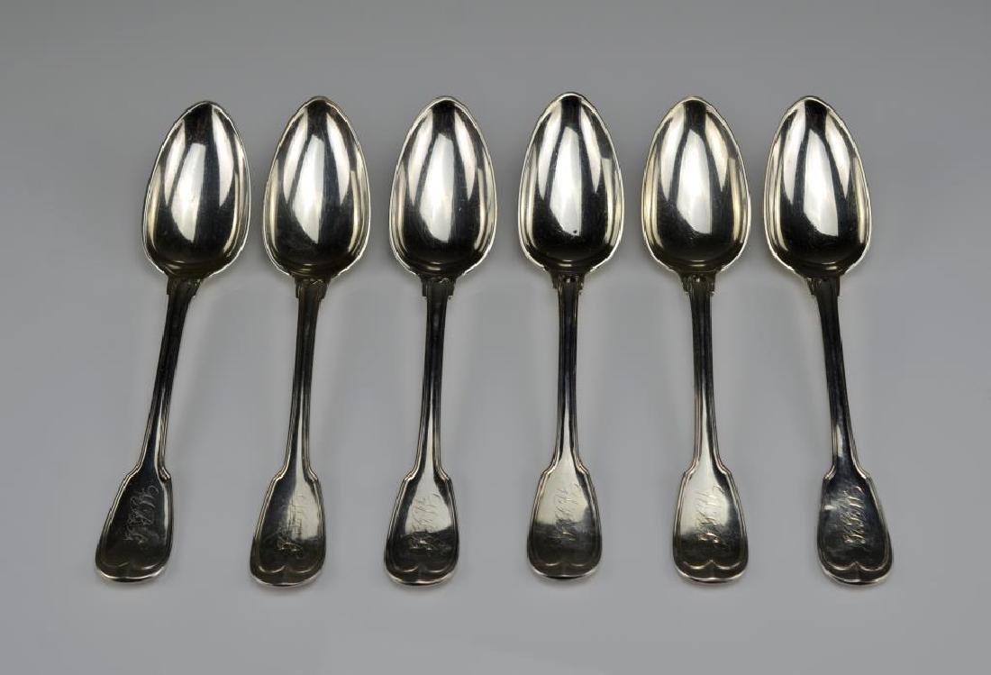 Twelve American silver tablespoons