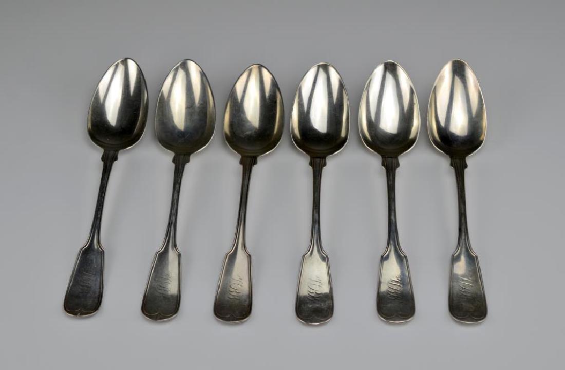 Twelve American silver tablespoons - 3
