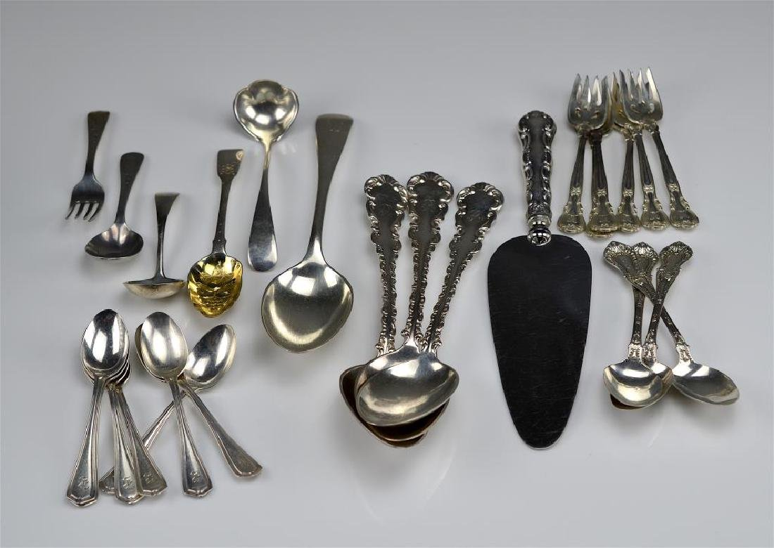 Lot of assorted silver flatware