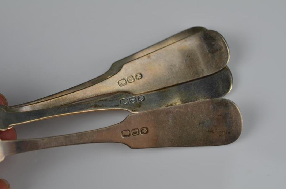 Lot of assorted Georgian silver flatware - 2