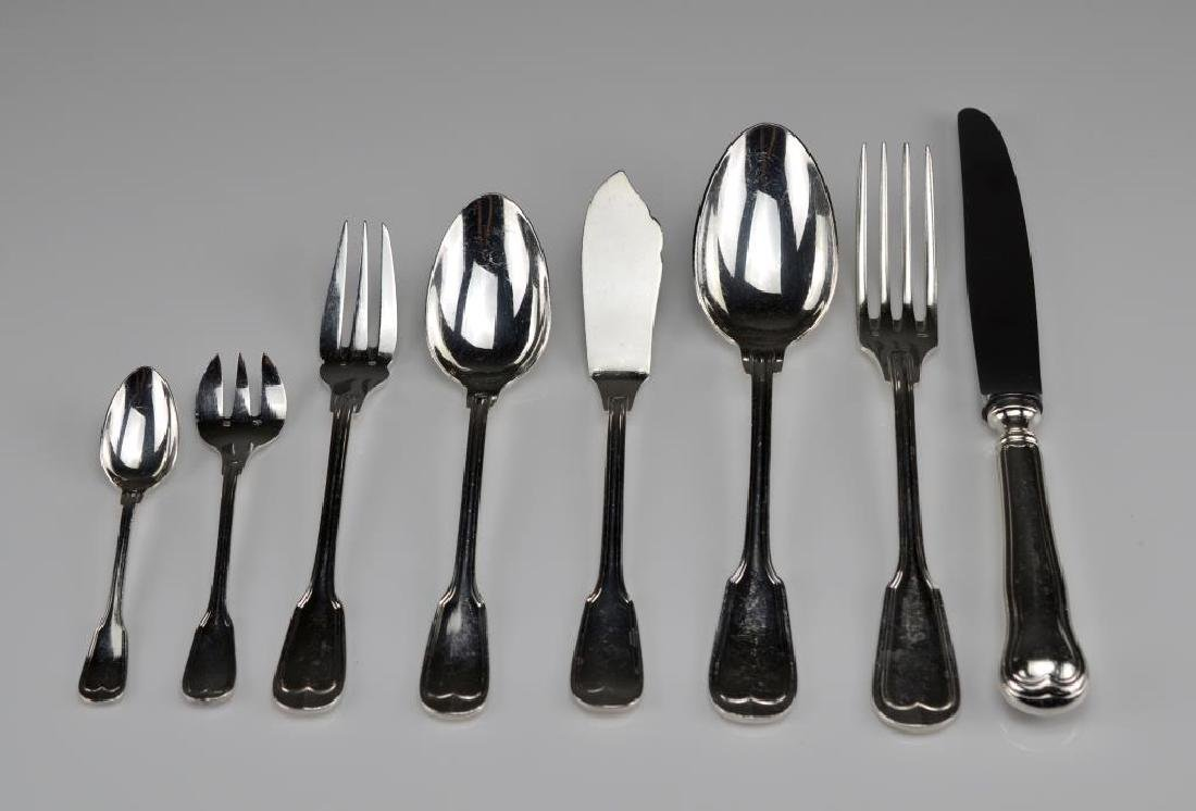 French silver plated flatware service