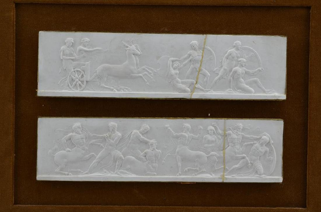 Five plaster relief plaques of the Elgin Marbles - 2
