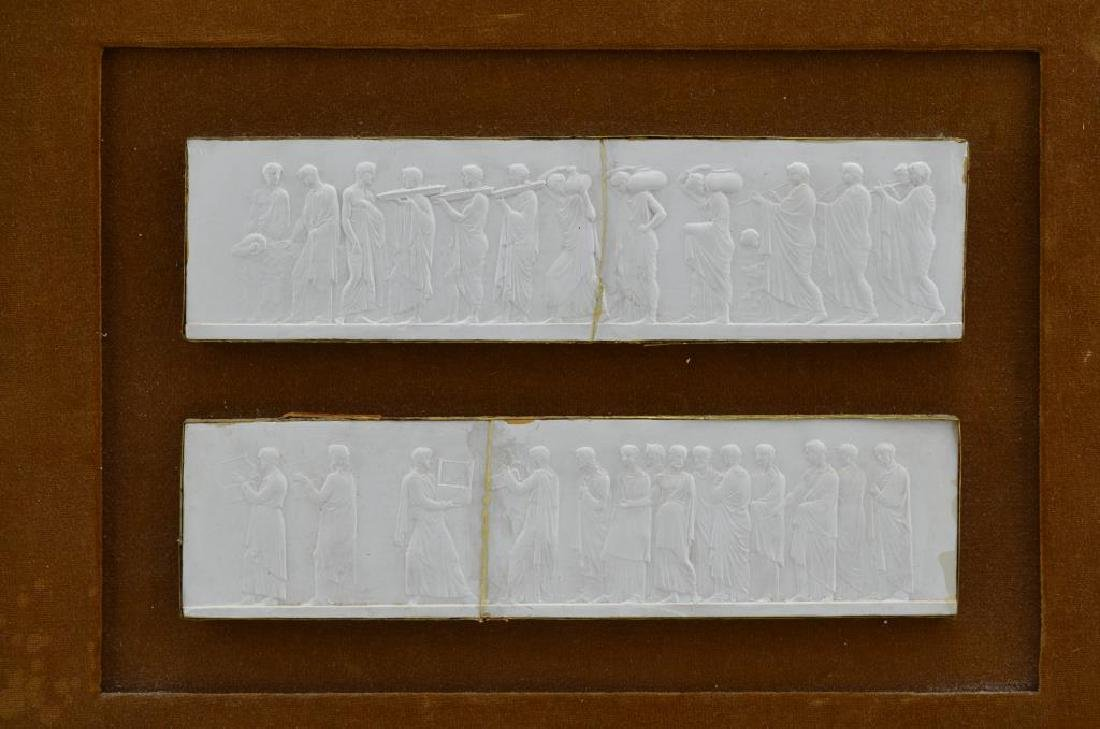 Five plaster relief plaques of the Elgin Marbles - 4