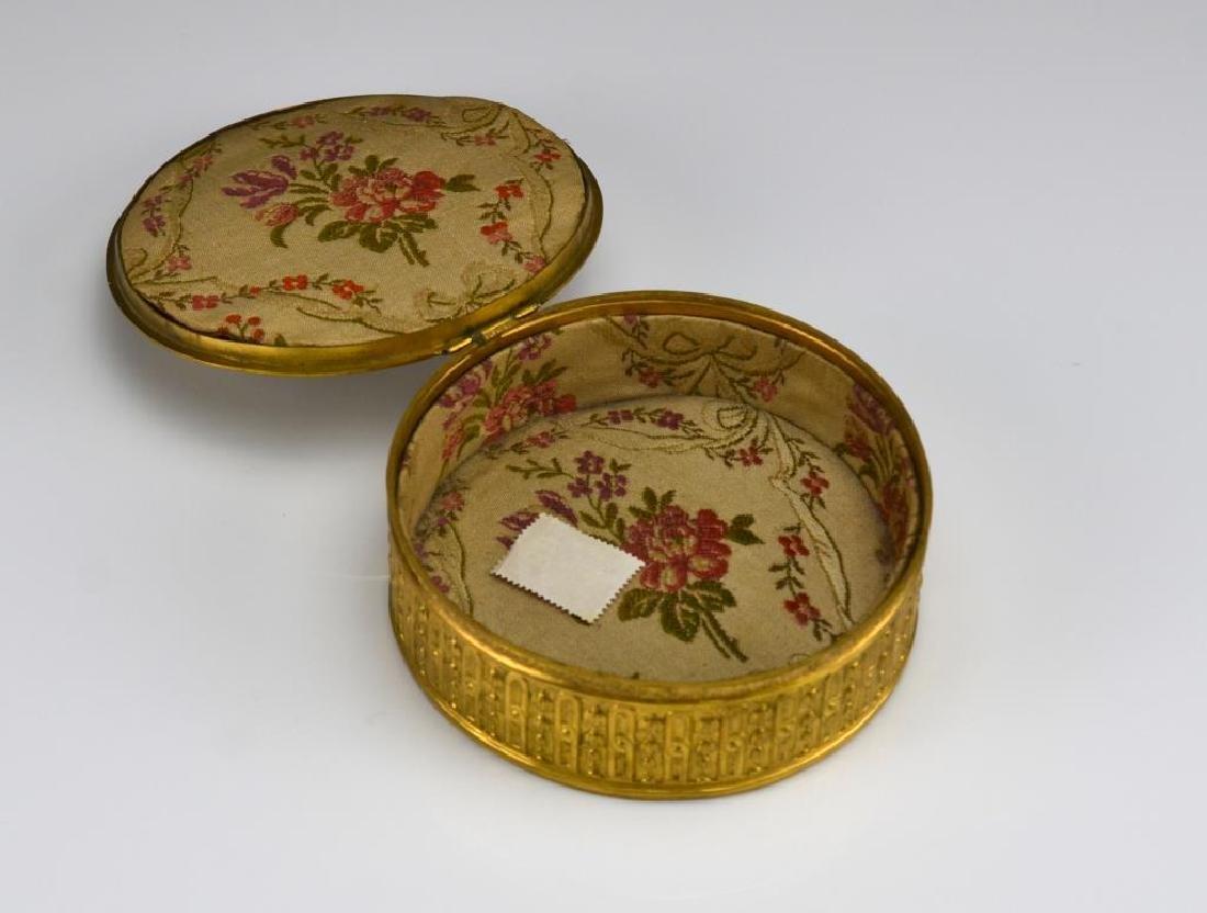 Antique French brass jewellery casket - 3