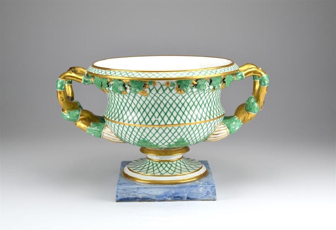 19th C English porcelain campagna form urn