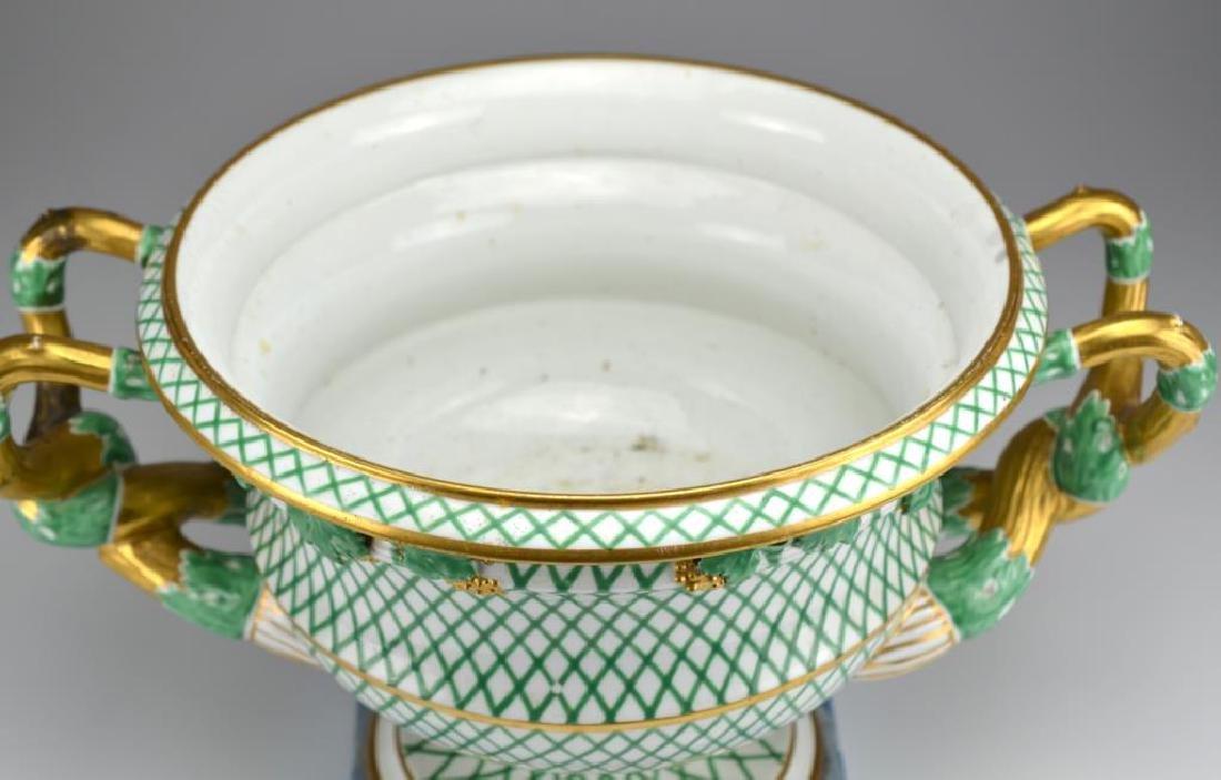 19th C English porcelain campagna form urn - 2