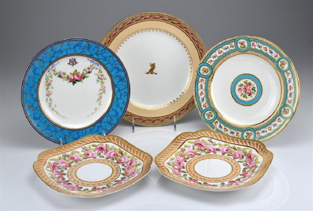 Lot of English porcelain plates