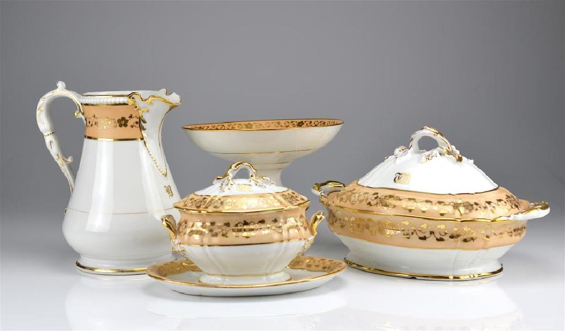 Lot of French porcelain serving pieces