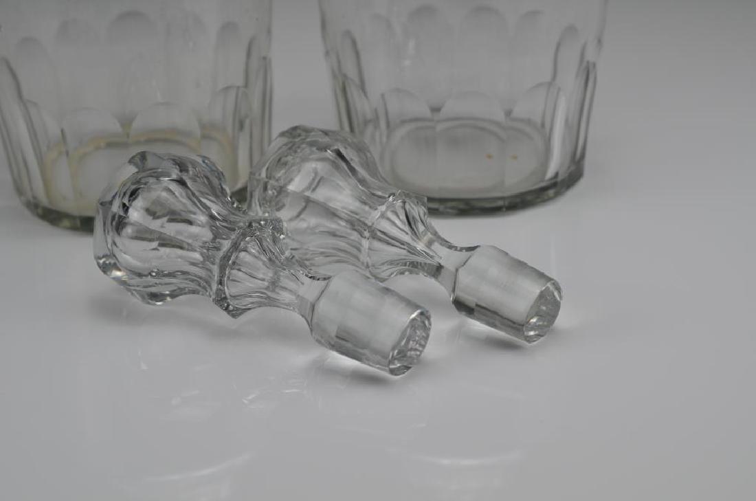 Pair of Georgian cut glass decanters - 2