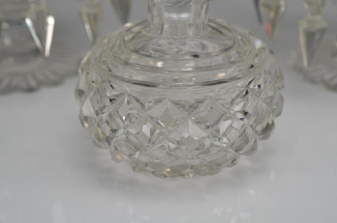 Pair of Anglo Irish cut glass lustres - 2