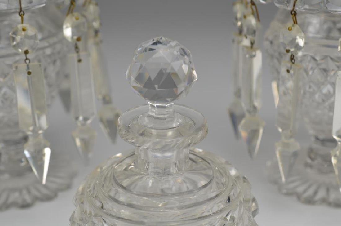 Pair of Anglo Irish cut glass lustres - 3