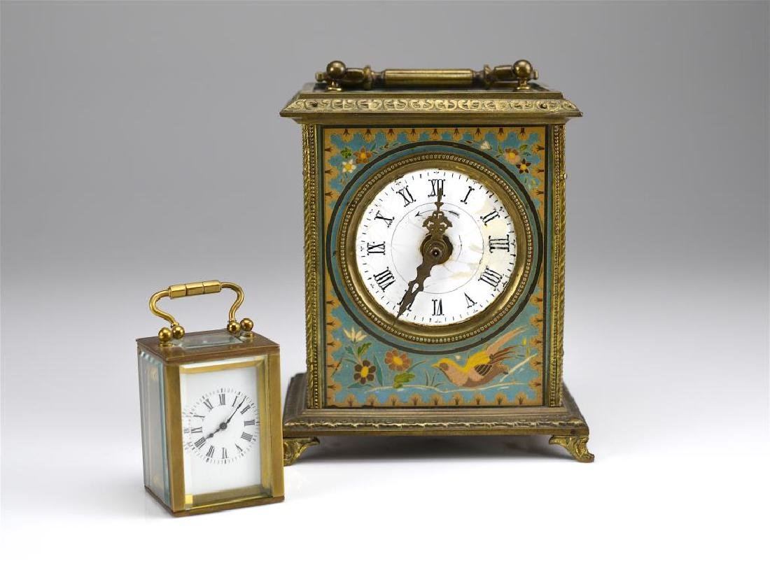 Two antique French mantel clocks