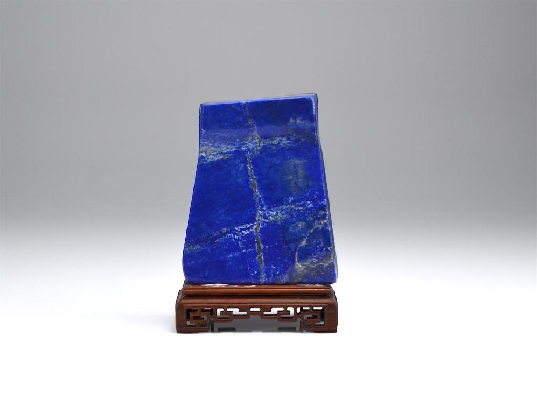 Natural slab of lapis lazuli