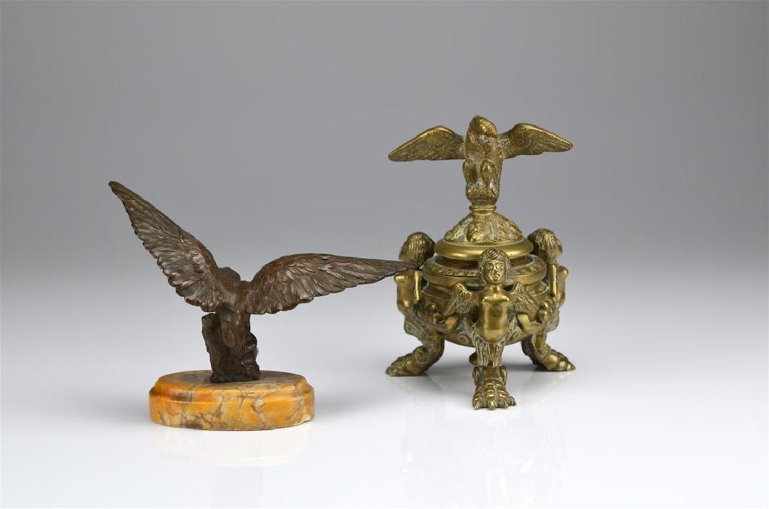 Two decorative bronze accessories