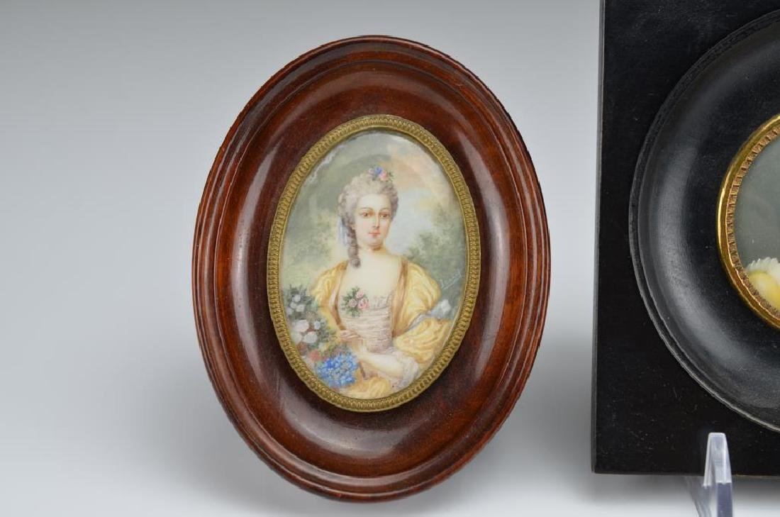 Three hand painted portrait miniatures - 2