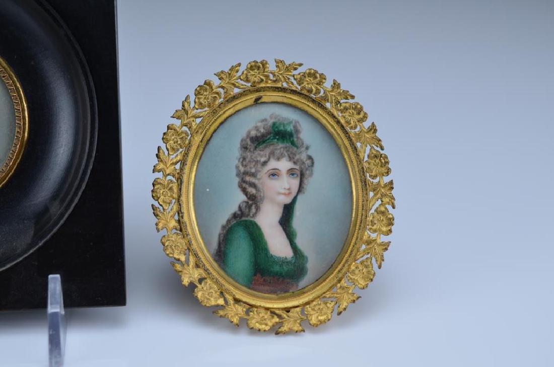 Three hand painted portrait miniatures - 4
