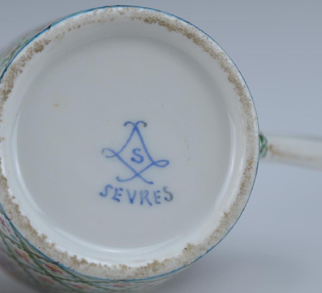 French hand painted porcelain cup and saucer - 4