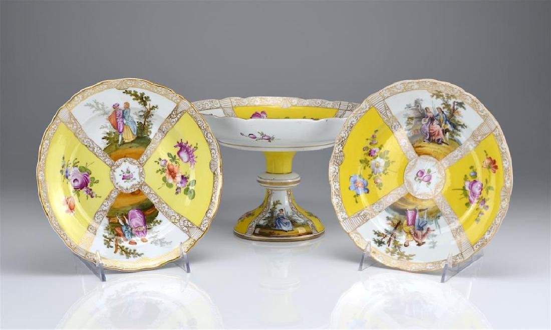 Three Dresden porcelain dishes - 2