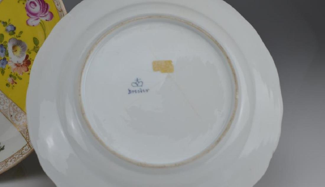 Three Dresden porcelain dishes - 3