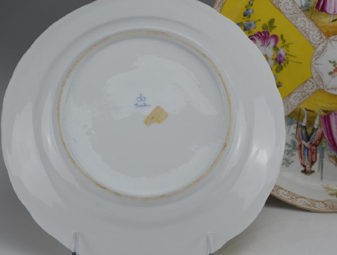 Three Dresden porcelain dishes - 5