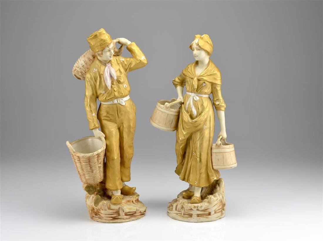 Pair of Art Nouveau Royal Dux figures