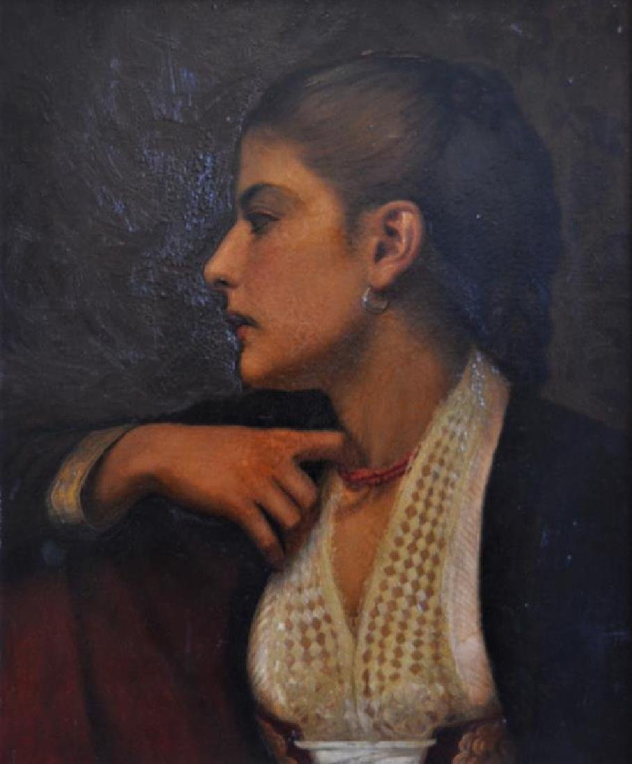 PORTRAIT OF A WOMAN IN PROFILE (20th C)