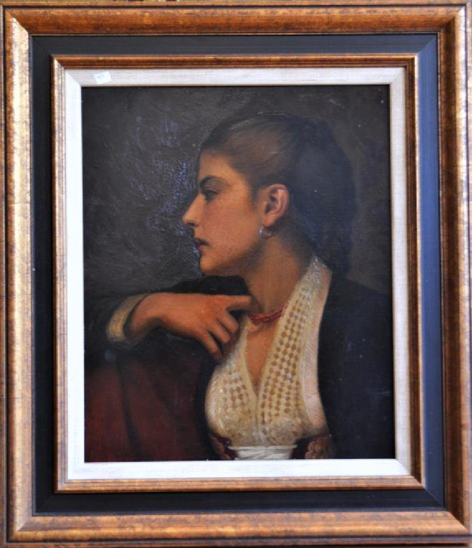 PORTRAIT OF A WOMAN IN PROFILE (20th C) - 2