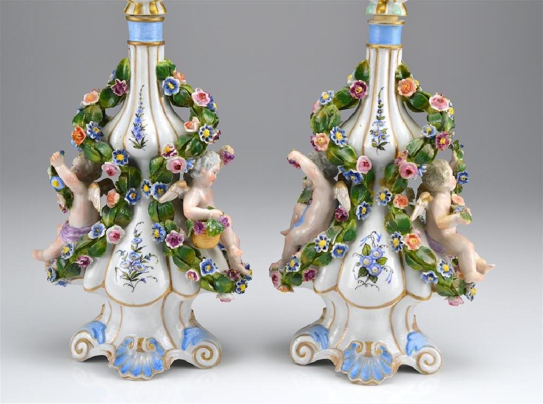 Pair of Dresden porcelain bottles - 2