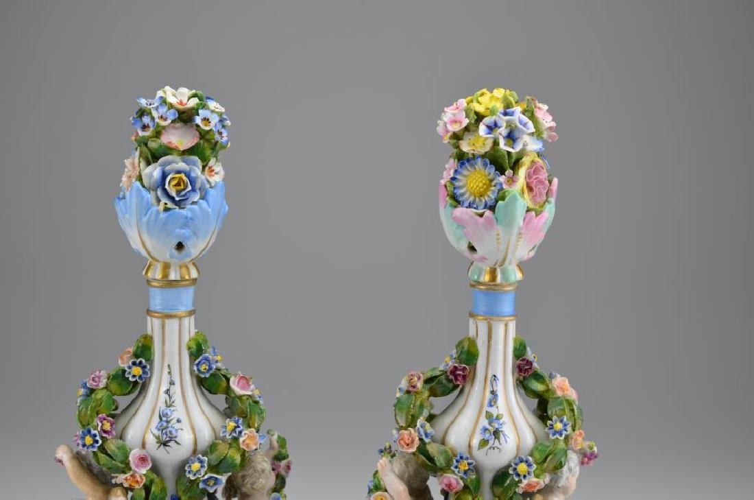 Pair of Dresden porcelain bottles - 3