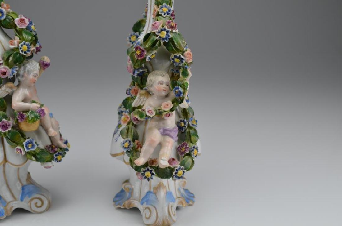 Pair of Dresden porcelain bottles - 5