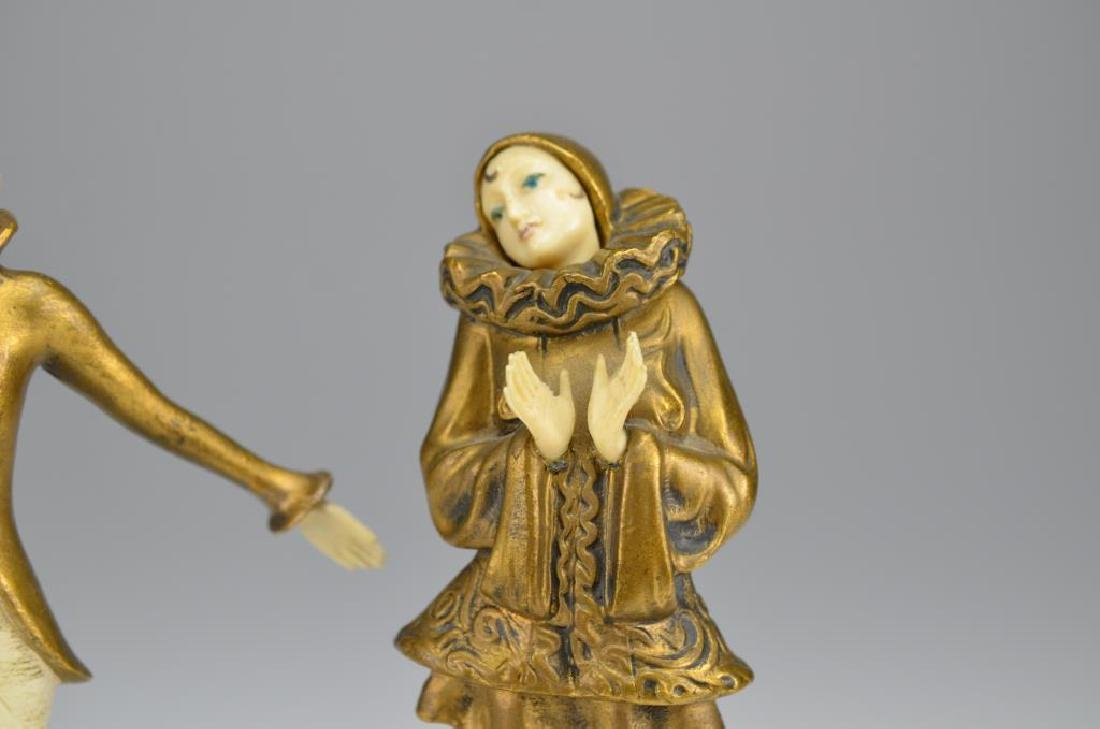 Pair of Art Deco cold painted bronze figures - 2