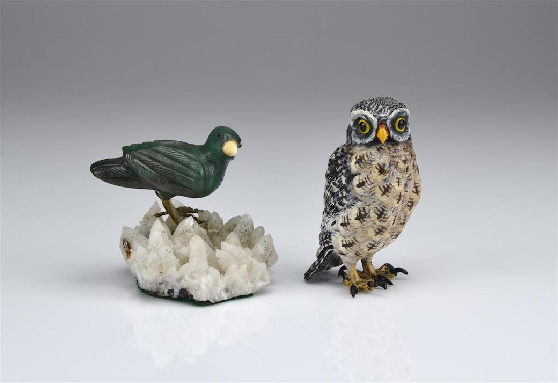 Two decorative bird figures