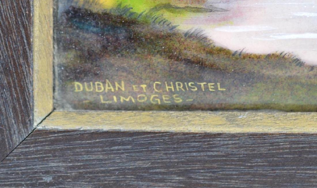 French Limoges enamel plaque - 3