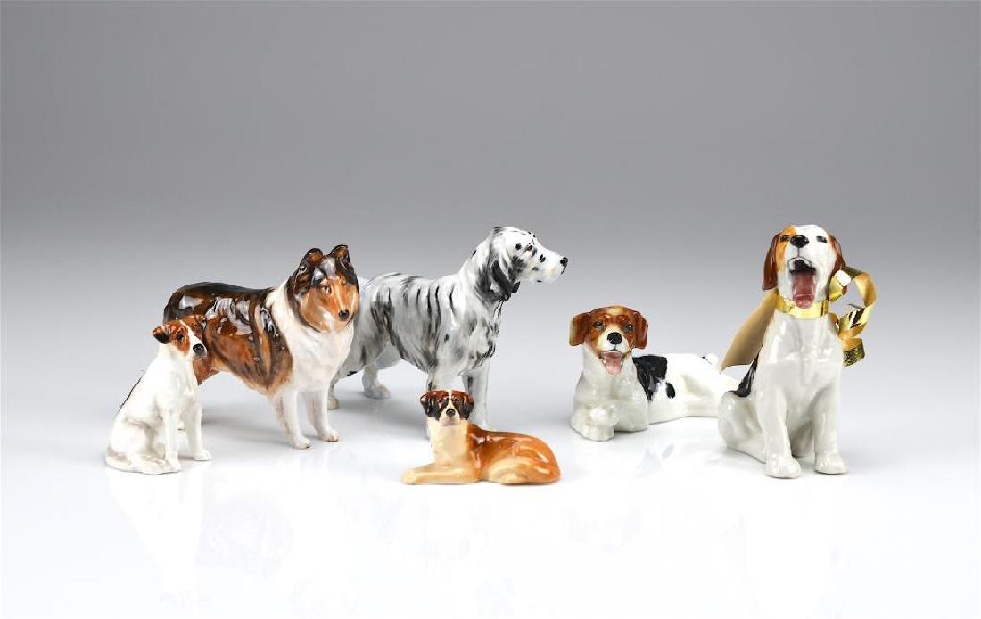 Six Royal Doulton dog figures