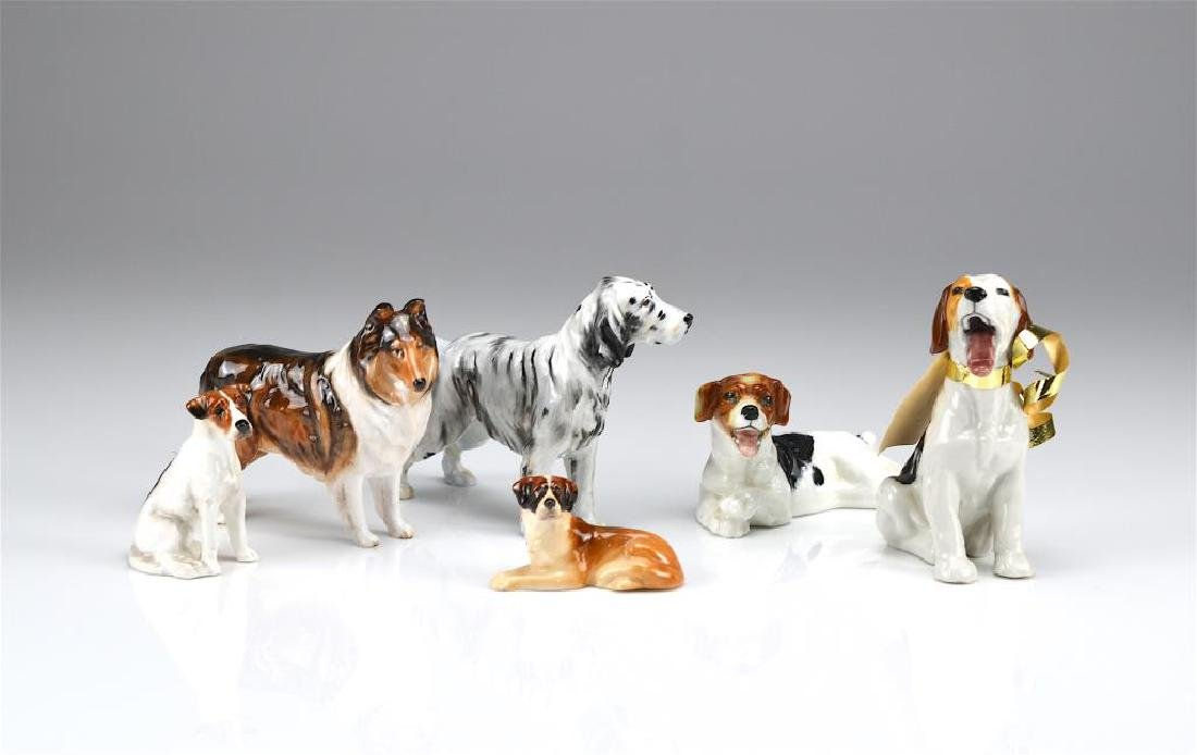 Six Royal Doulton dog figures